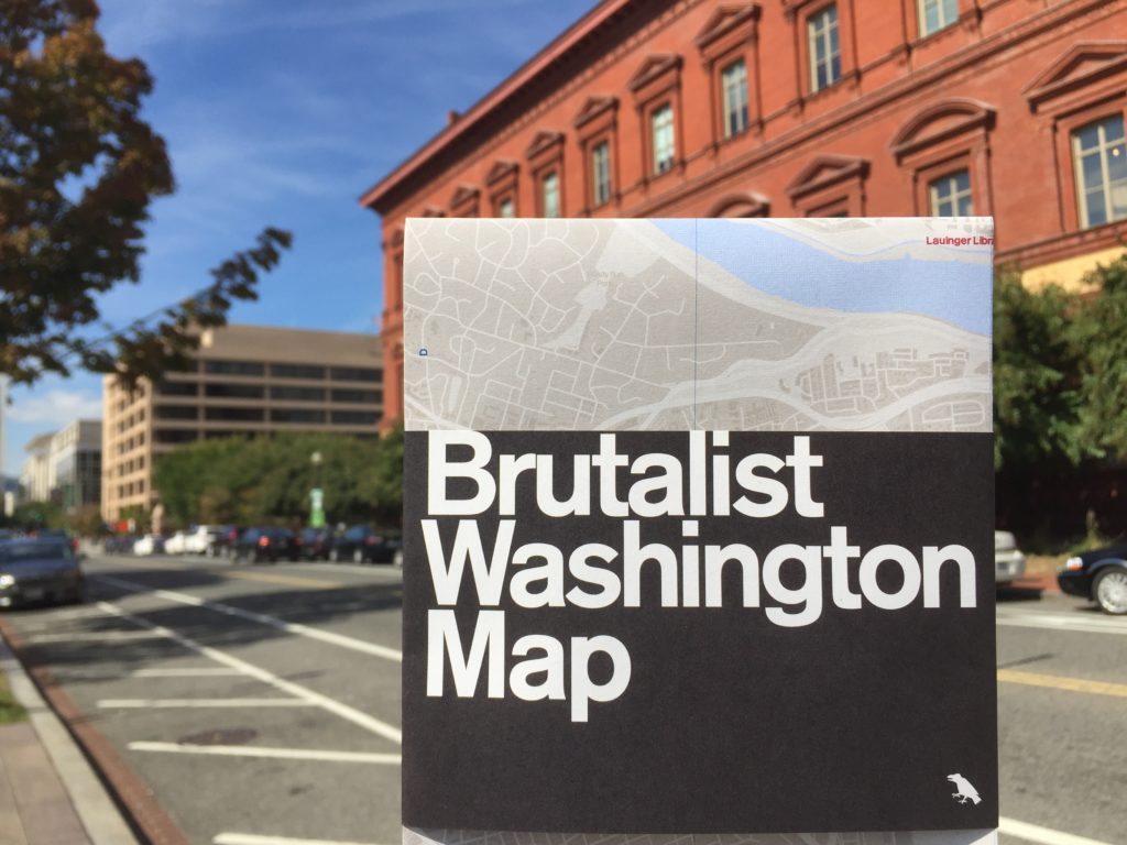 Brutalist Washington Map, published by Blue Crow Media
